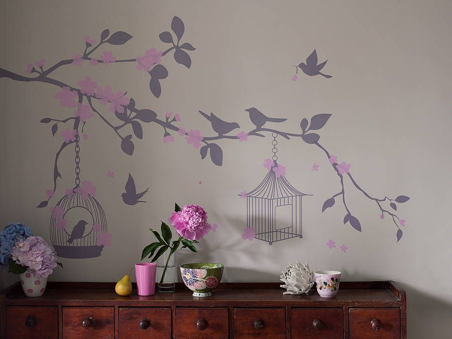 Bird Cage Wall Stickers Bird Cage Wall