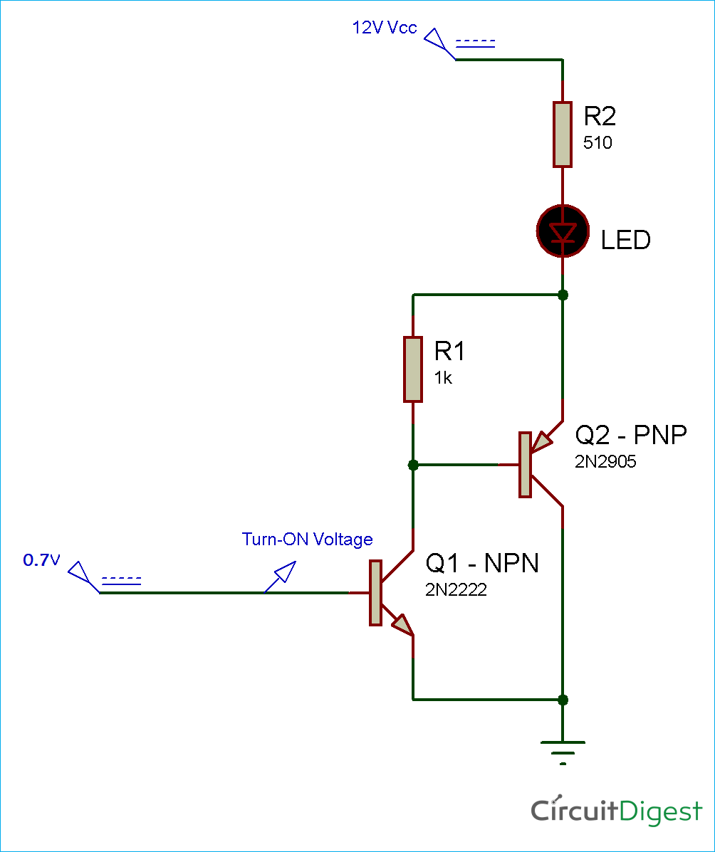 hight resolution of sziklai transistor pair circuit diagram