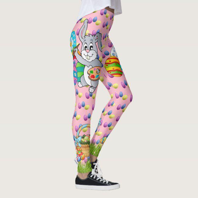 EASTER Leggings Bunny Egg Yoga Pants Women's Girls | Zazzle.com