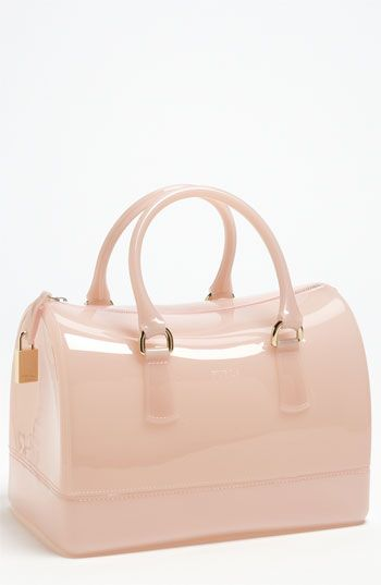 I m not traditionally a fan of Designer clear plastic totes and rubber bags  that appear in Spring - but this Furla bag is so etherial and ladylike a366a1b0effb3