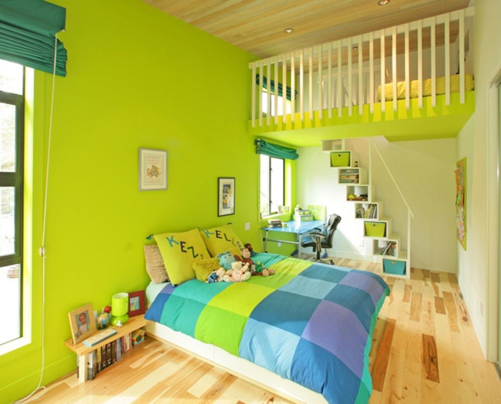 Lime Green Accent Wall Bedroom   Bedroom Design   Pinterest ...