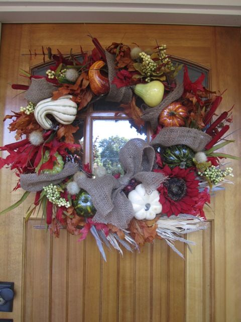 My Knock Off Version Of Pottery Barn S Fall Wreath Pottery Barn Fall Pottery Barn Fall Wreath