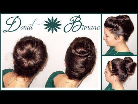 Chignon Donut et Banane pour débutantes Cheveux courts