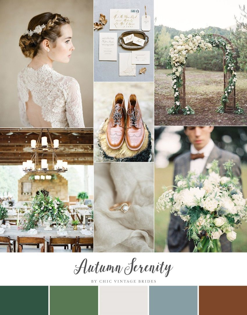 Autumn serenity fall wedding inspiration in a palette of serenity