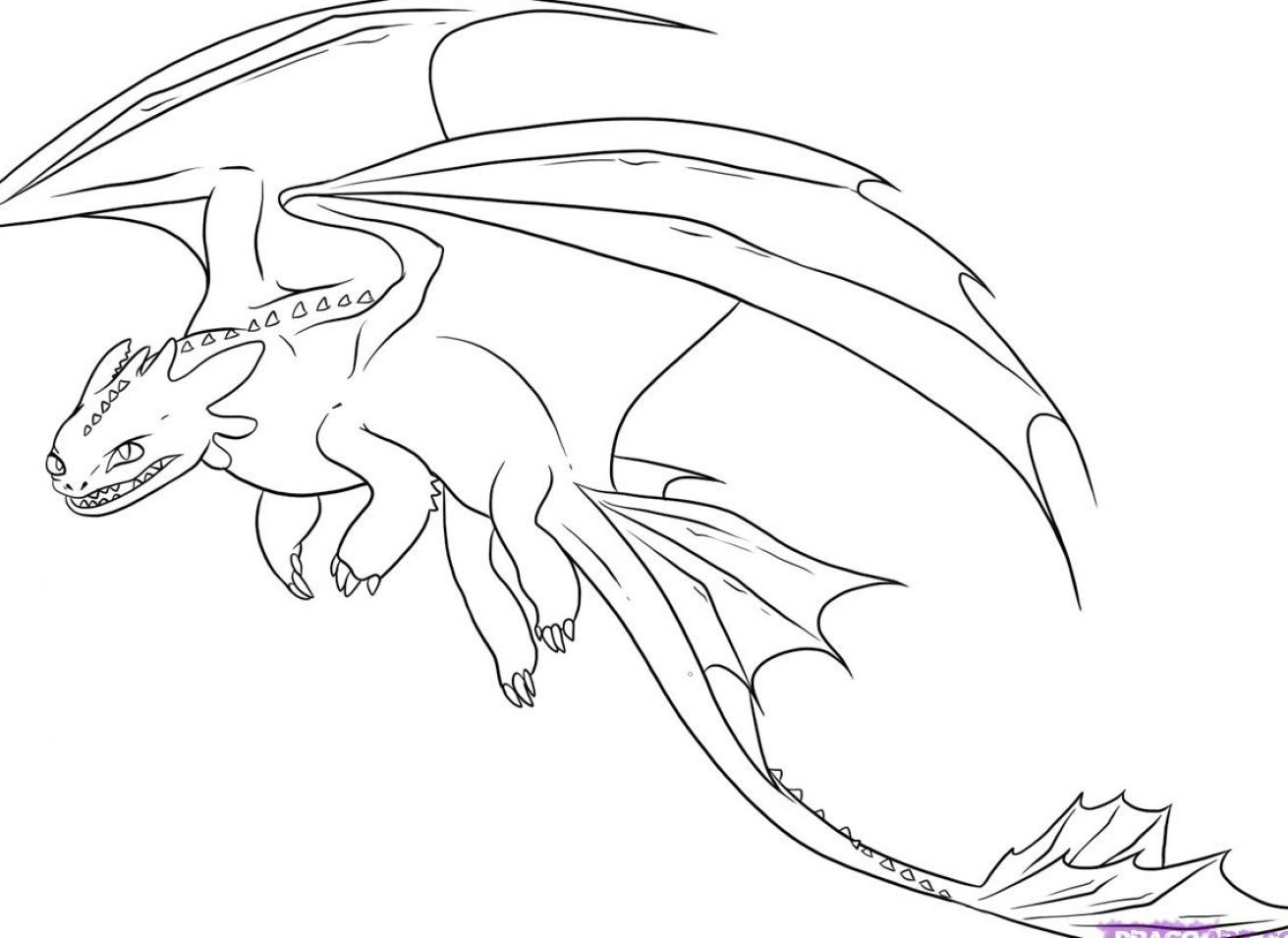 Printable coloring pages of dragons - Toothless Dragon Coloring Pages Google Search