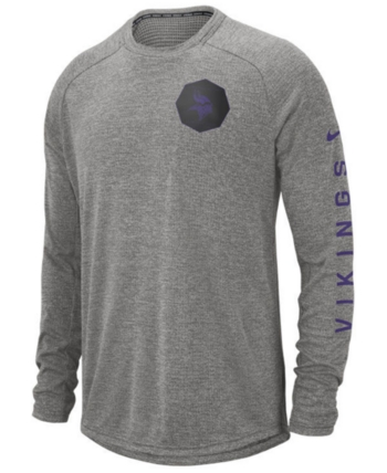 caae46940 Nike Men s Minnesota Vikings Stadium Long Sleeve T-Shirt - Black XXL ...