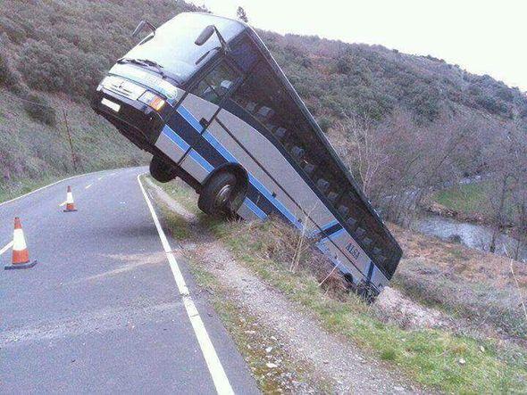 Accidente de una autobús