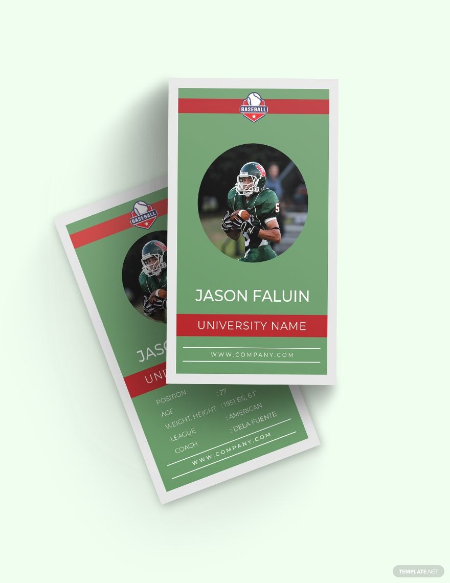 Football Trading Card Template Free Pdf Word Psd Apple Pages Illustrator Publisher Trading Card Template Card Template Football Trading Cards