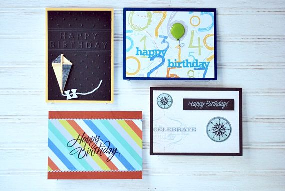 The Male Birthday Pack 4 Male Birthday Cards By The Heritagecardbox