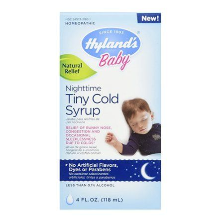 Hyland S Baby Nighttime Cold Syrup Natural Relief Of Runny Nose Congestion And Sleeplessness 4 Ounces Walmart Com Chest Congestion Remedies Congestion Remedies Chest Congestion