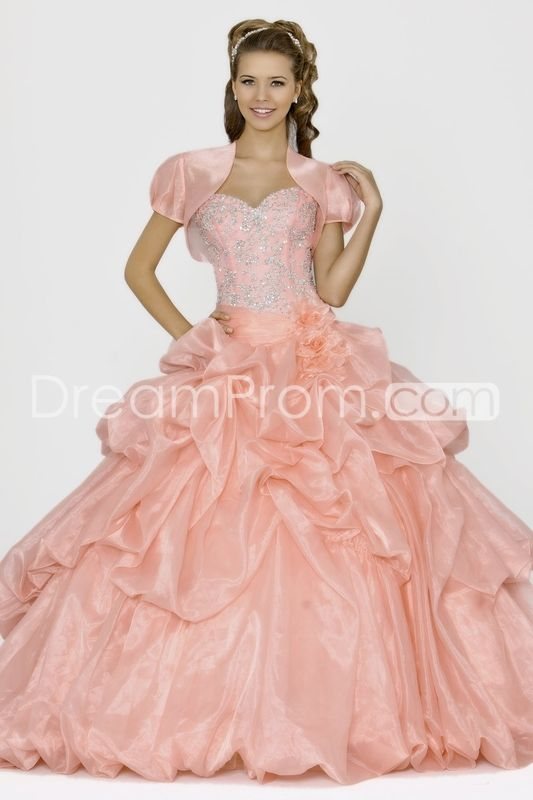 2014 Pretty Long Sweetheart Tulle Quinceanera Dresses