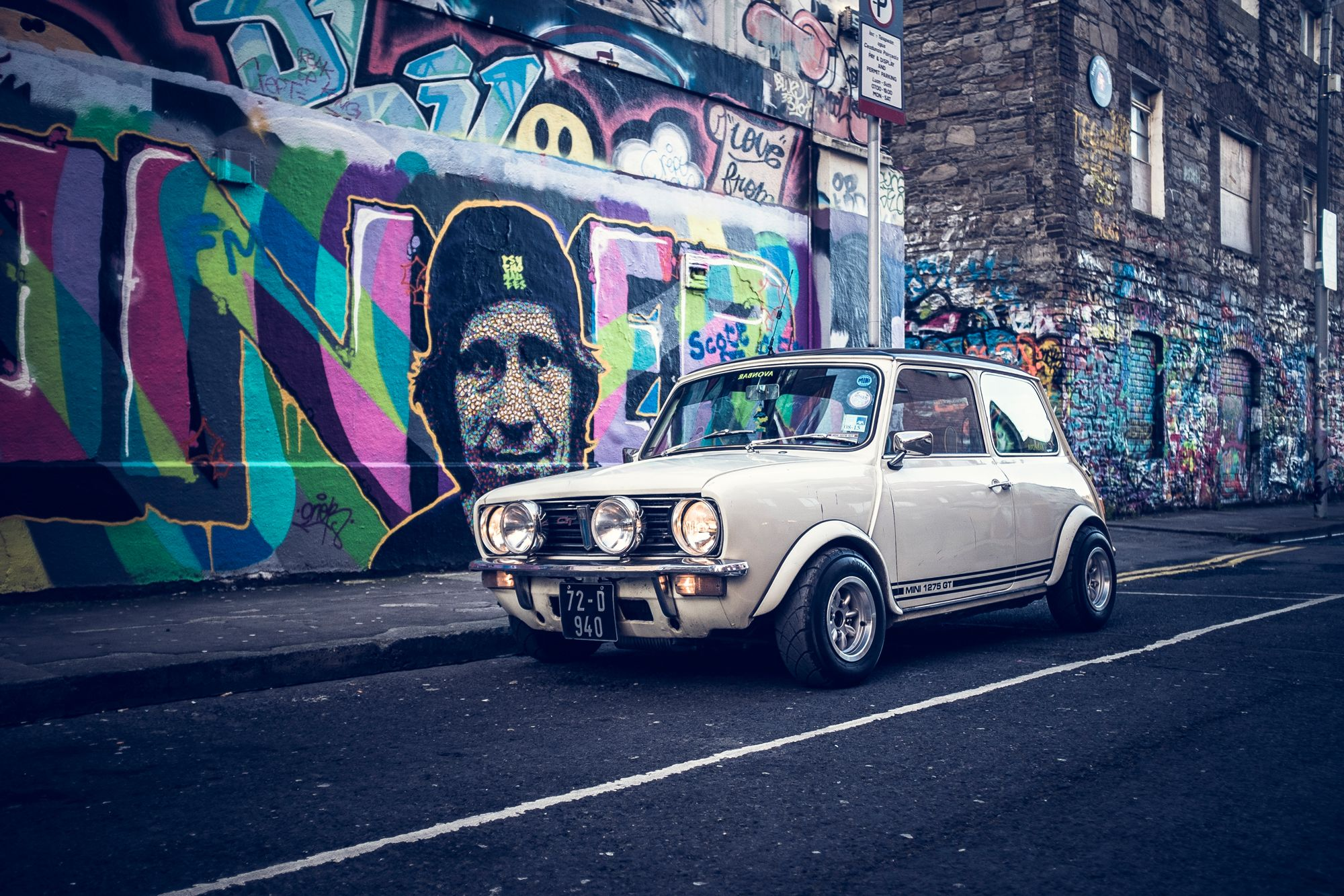 Out 16v Mini Clubman Outside Windmill Lane In Dublin Mini 1275gt 16mini Miniclubman Classicmini Mini Cars Mini Morris Classic Mini