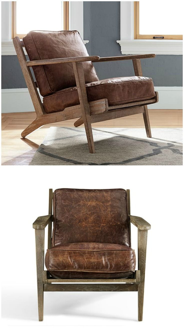 Raylan Leather Armchair from Pottery Barn. Comfy and