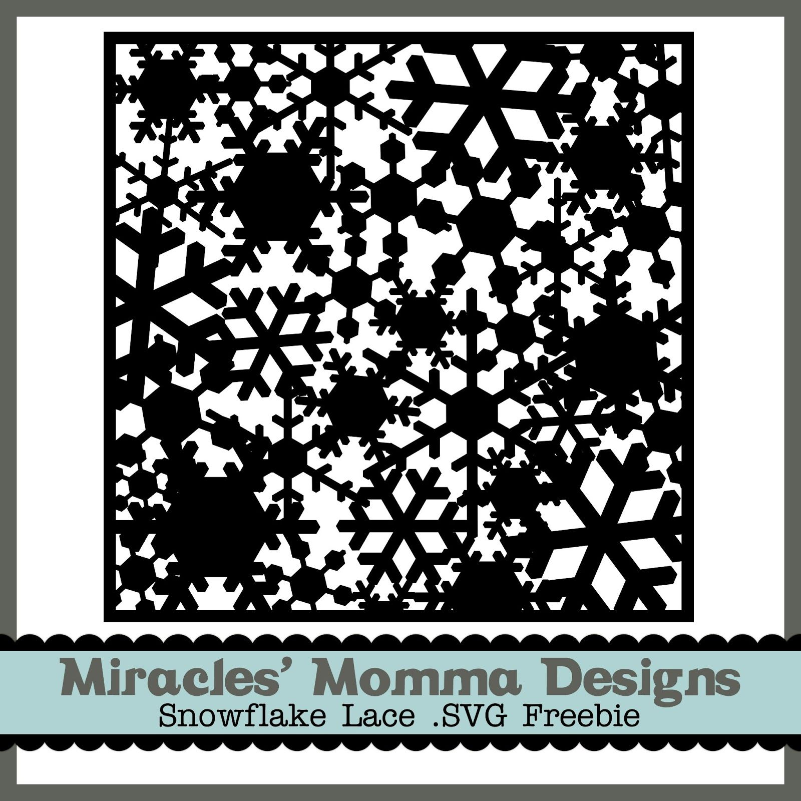 Lace Paper Free SVG Die Cut Snowflake. * Christmas cut