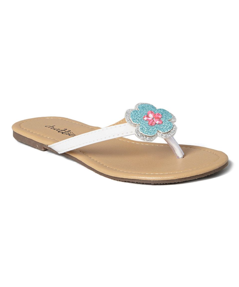 Love This Chatties White Flower Flip Flop By Chatties On Zulily