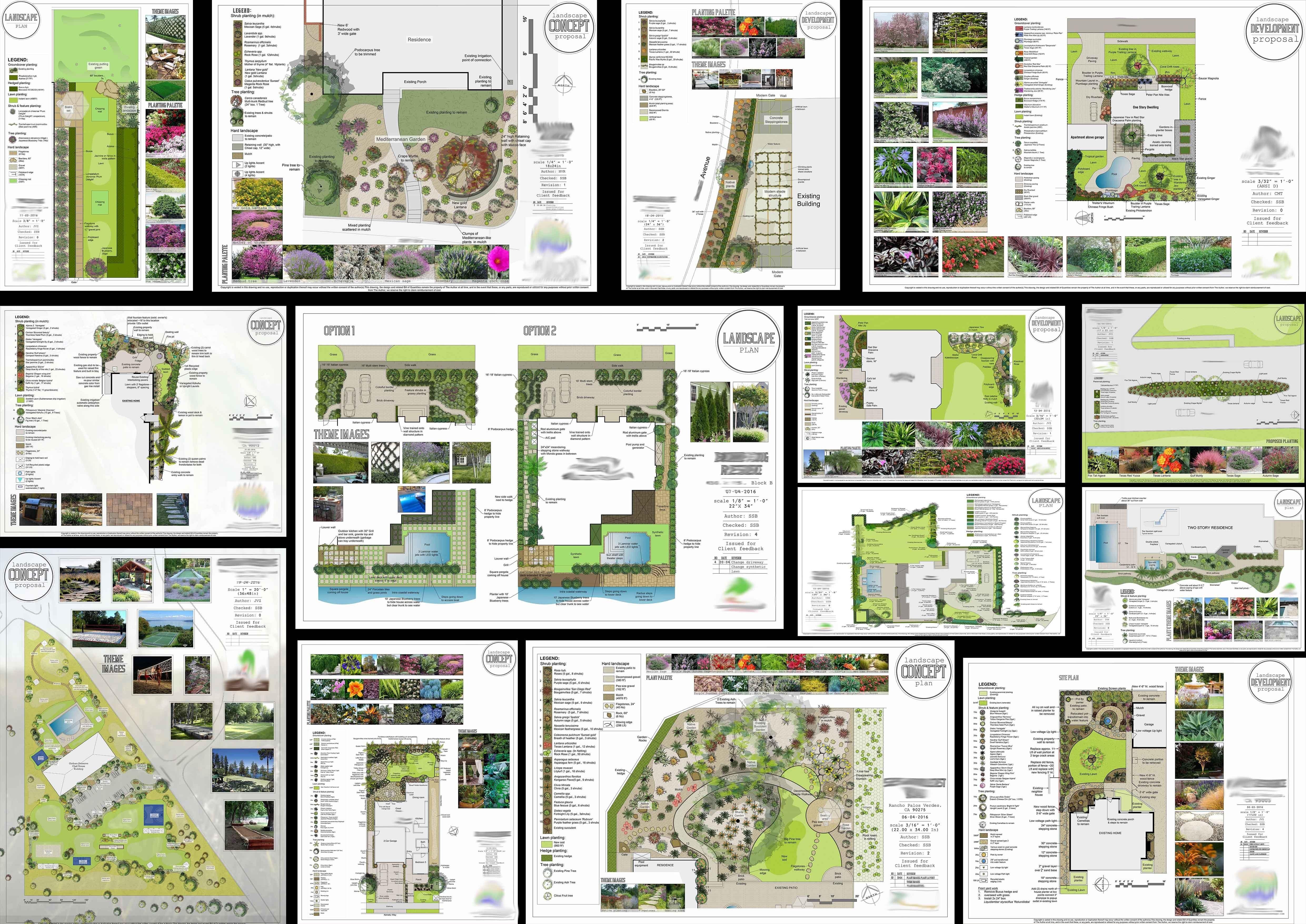 Residential Landscape Design Concepts Landscape Design Concept