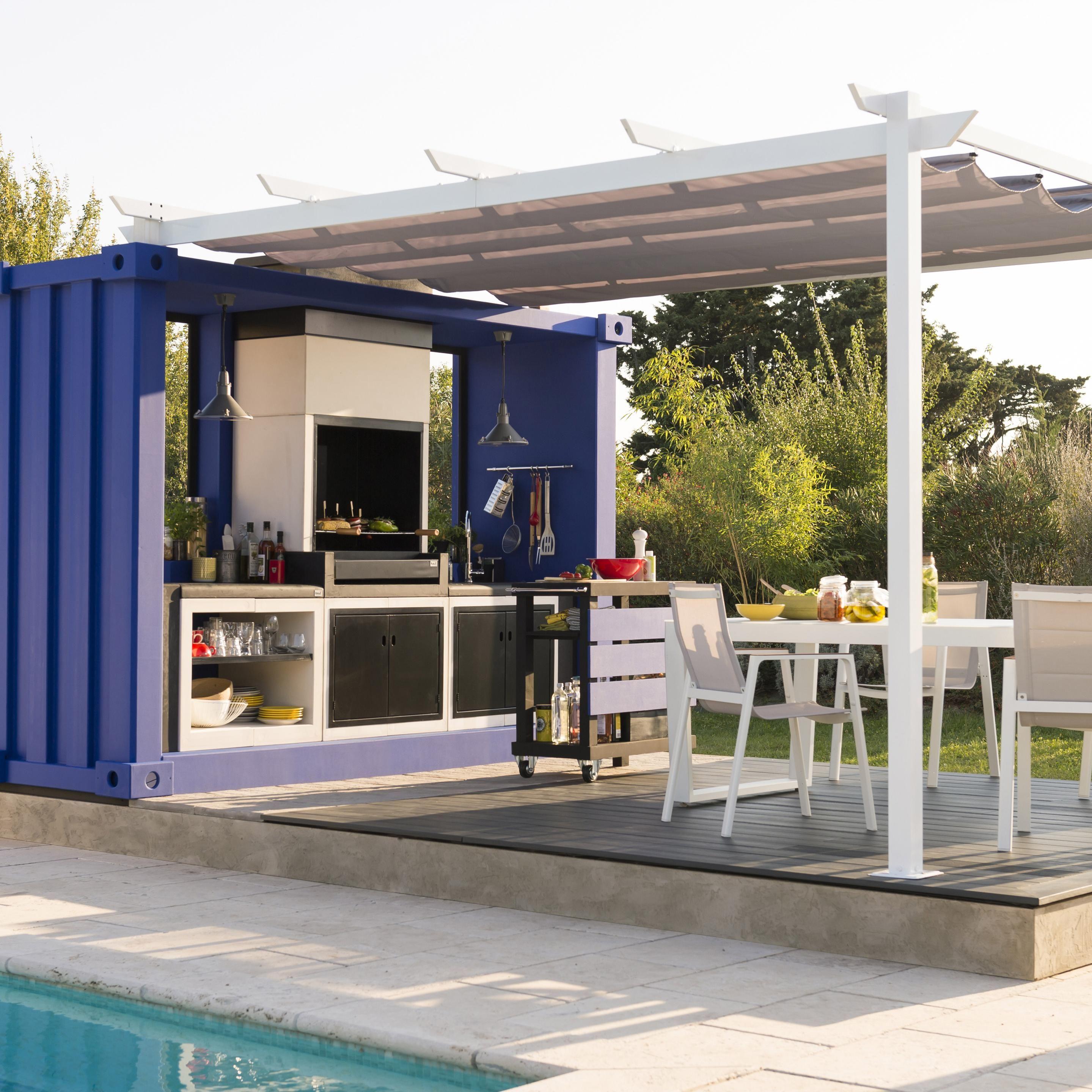 Toile Polyester Niagara Gris L 282 X L 400 Cm Naterial Cuisine Exterieur Exterieur Et Amenagement Exterieur