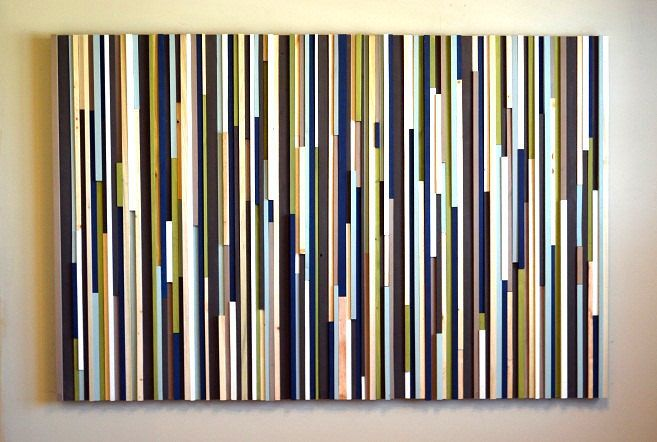 Wood Sculpture Wall Art Lines 48x72 by moderntextures on Etsy