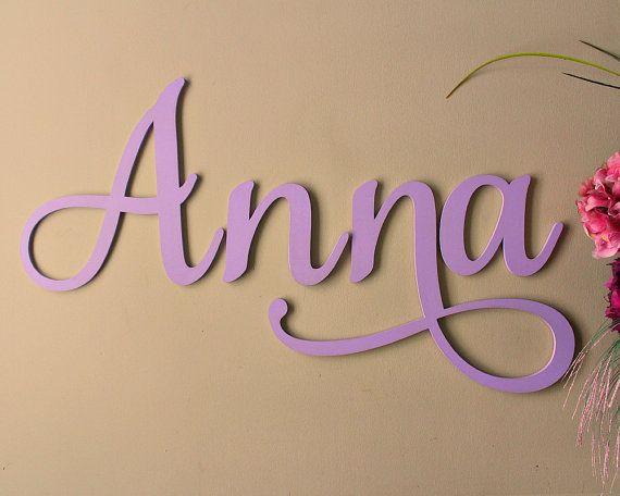 Nursery Decor Wood Letters, Nursery Name Sign, Baby Name Letter Art