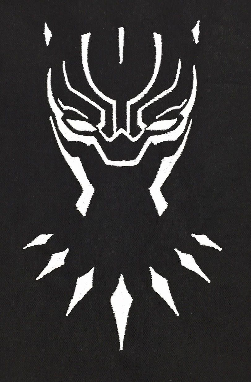 Black panther outline avenger embroidery design this is not a patch by ruthsewingroom on
