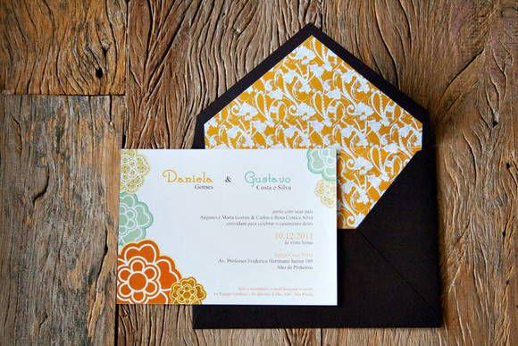 convite floral - elo7