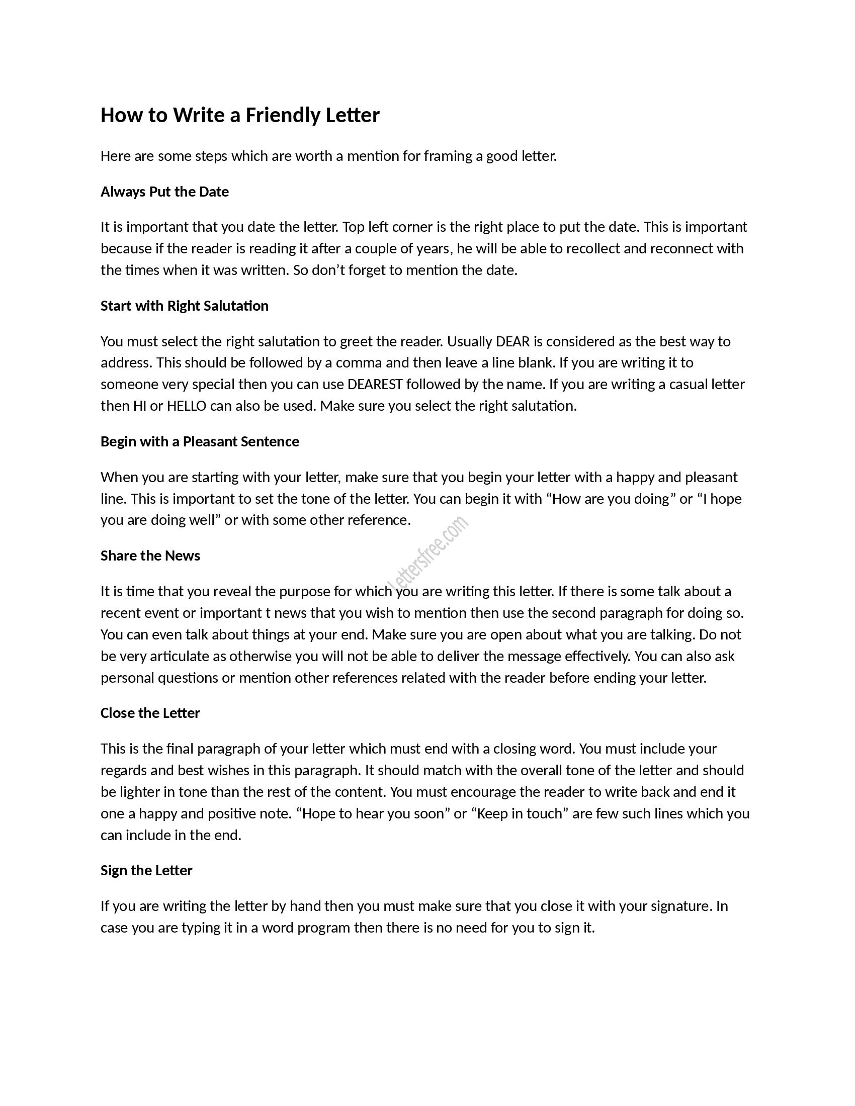 how to write a good friendly letter sample friendly letter tips for writing a friendly letter for high school friendlyletter samplefriendlyletter