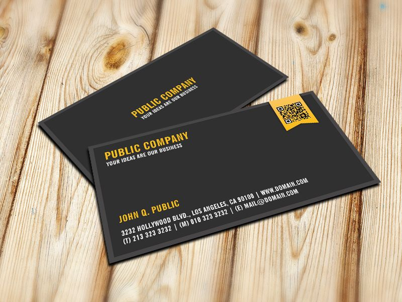 Elegant Corporate Qr Code Business Card 画像あり 名刺