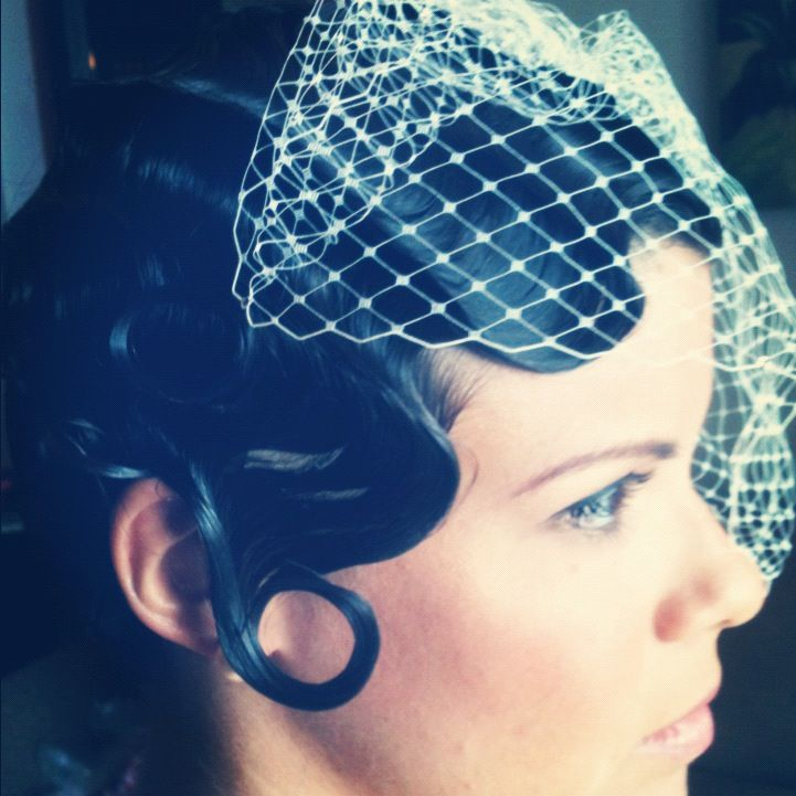 Hair And Makeup By Monica Vintage Wedding Updo Hairstyle Fingerwave Pincurls Manuel Antonio Costa Rica With Images Vintage Hollywood Hair Hollywood Hair Hair Styles