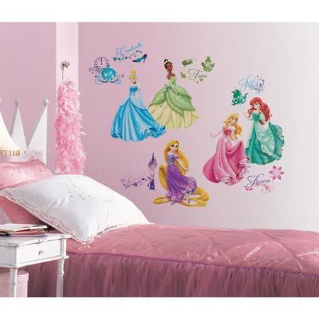 Disney Princess Royal Debut Peel And Stick Wall Decals Walmart Com Disney Princess Wall Decals Kids Wall Decals Baby Nursery Decor