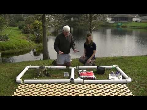 How to build a floating plant island youtube water for Hydroponics in koi pond