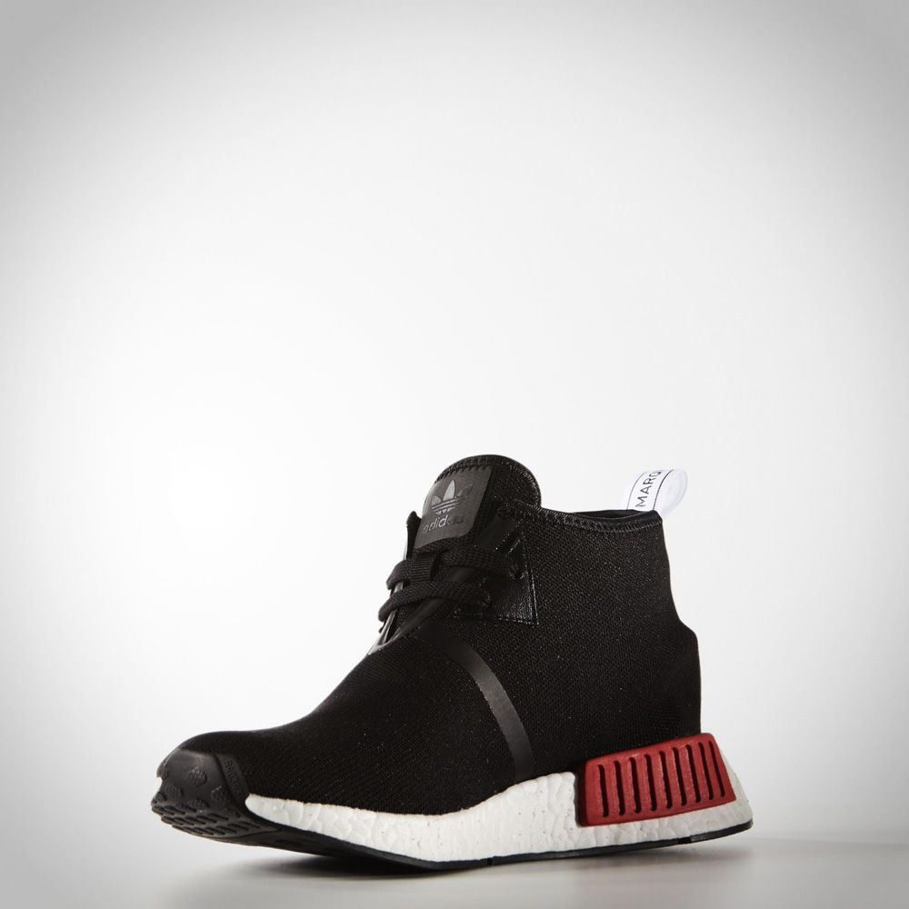 S79148 - Adidas NMD Chukka O.G. Noir Rouge Femme Homme Chaussure À Vendre 04c15cf69923
