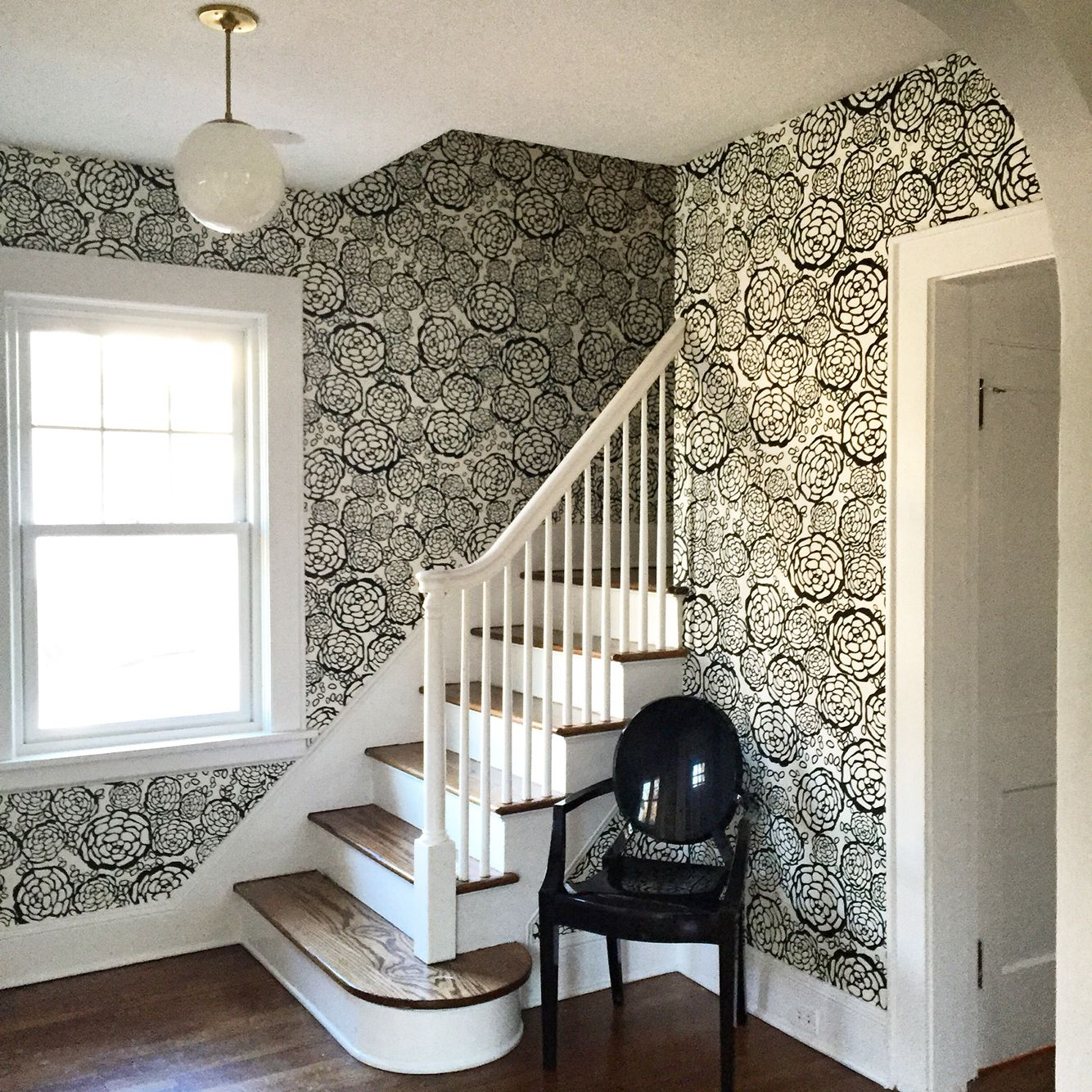 Wallpaper Foyer : Entry foyer of our dutch colonial ohh joy for hygge