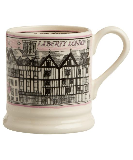 Does she love Liberty? Did she used to visit Liberty all the time when she lived in London? Then this mug is for her. - Emma Bridgewater, Liberty Building Half Pint Mug. This is a Liberty exclusive. #libertygifts #libertyhome