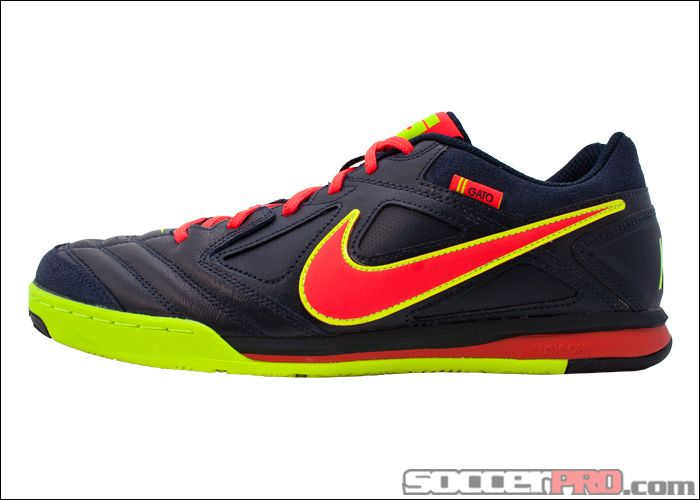 Nike Gato - Leather - Dark Obsidian with Volt and Bright Crimson...$58.49