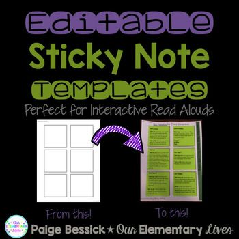 photograph regarding Editable Post It Note Template referred to as EDITABLE Sticky Notice Templates Instructor Rules Notes