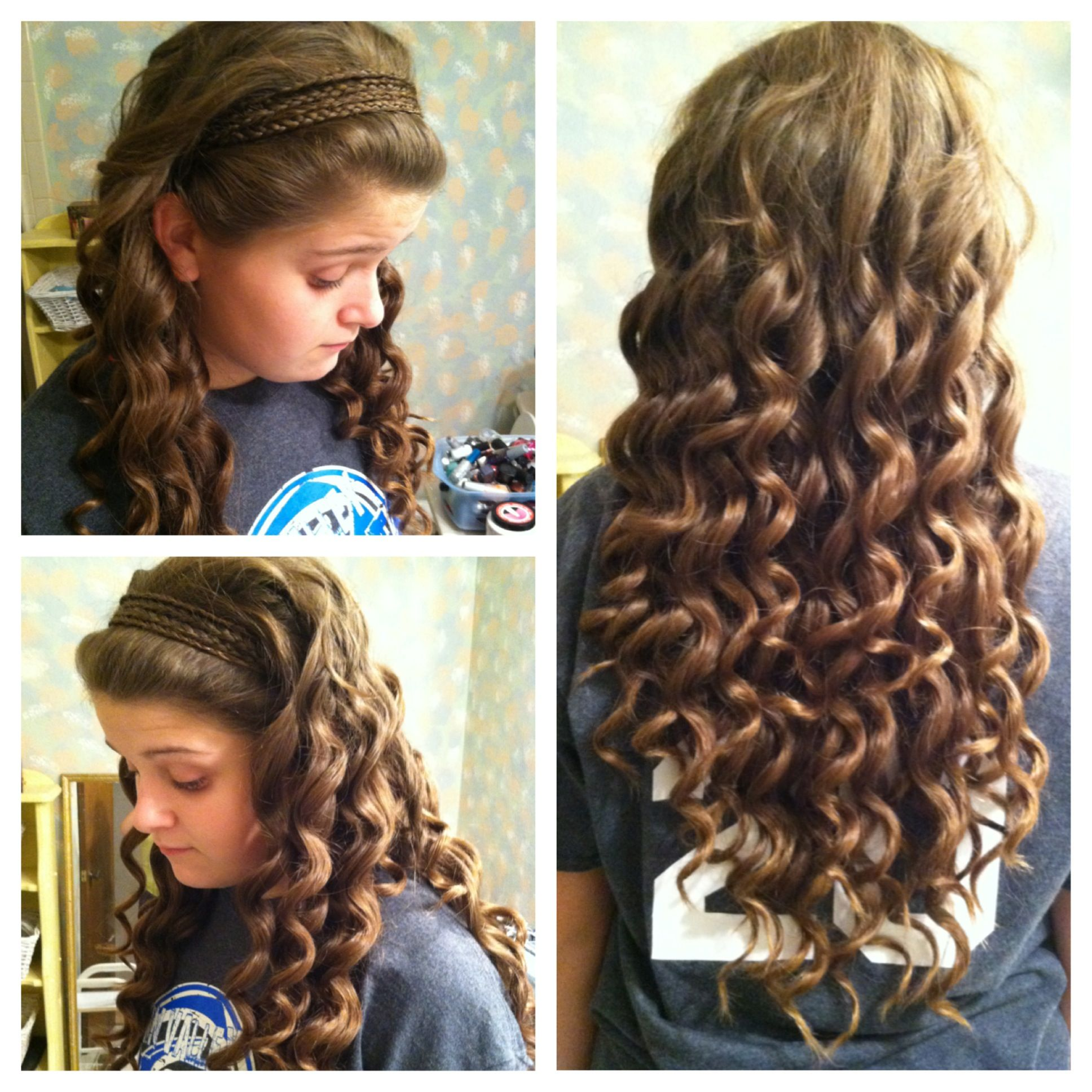 Headband Braid With Curls For Prom Www Pixshark Com