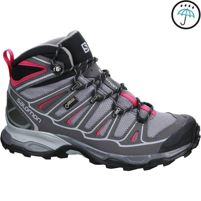 a140625f02f SALOMON X ULTRA MID L GTX GRIS pas cher prix Chaussures de Randonnée Femme  149.99 €