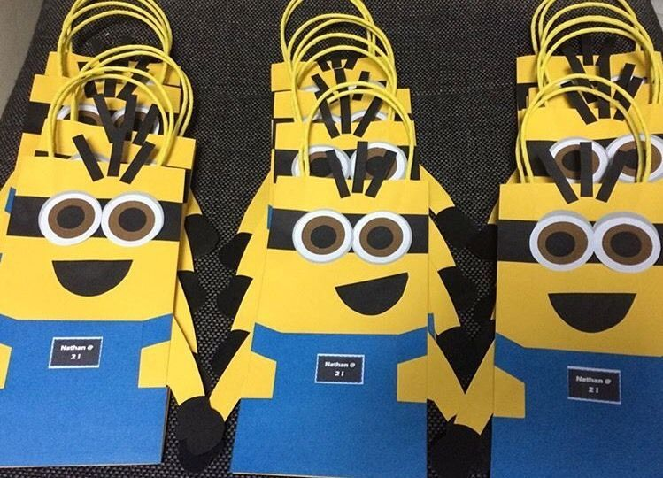 Minions Party Bags Deable Me Loot Favours