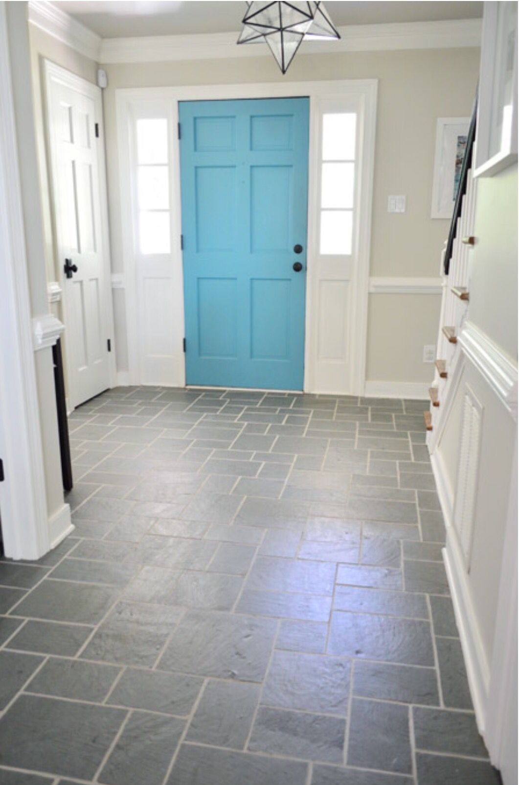 Foyer beauty | Home Style | Pinterest | Foyers, Slate flooring and ...