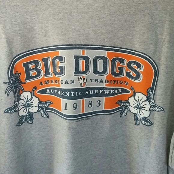 Men's Big Dogs t-shirt Heather Gray tee with small big dog ...