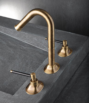 Pau Brushed Brass 3 Piece Basin Tap | Bathroom | Pinterest | Basin ...