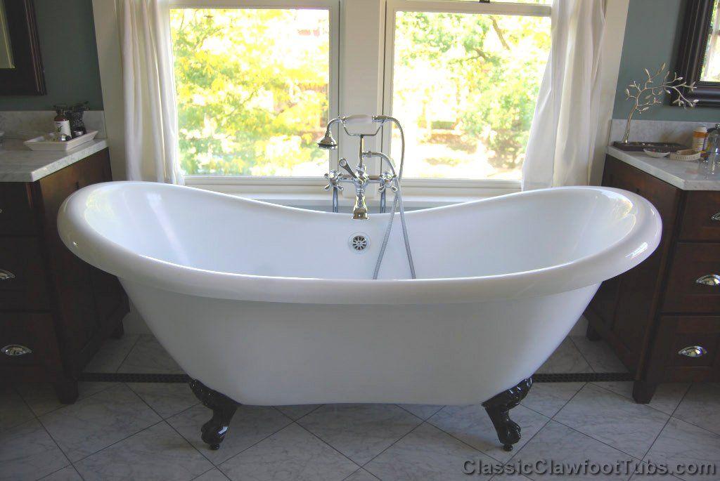 footed bathtubs   acrylic clawfoot bath tubs cp ac desl69 ...