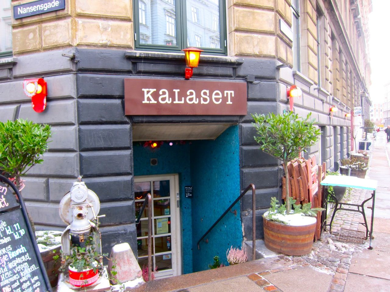 "My favourite cafe/bar in Copenhagen, Kalaset. Kalaset is home to ""Copenhagen's Best Brunch"" according to Danish newspaper Politiken. The cafe totally embodies the Danish idea of ""hygge""."