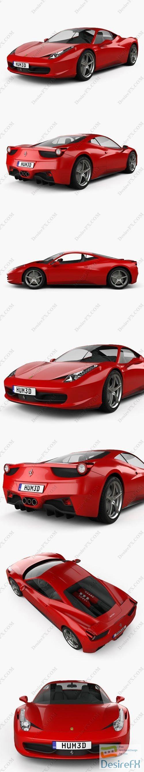 Ferrari 458 Italia 2011 3D Model #ferrari458italia