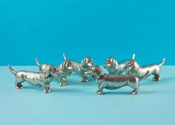 French Vintage Silver Plated Basset Hound / by BillsBitsAndBobs