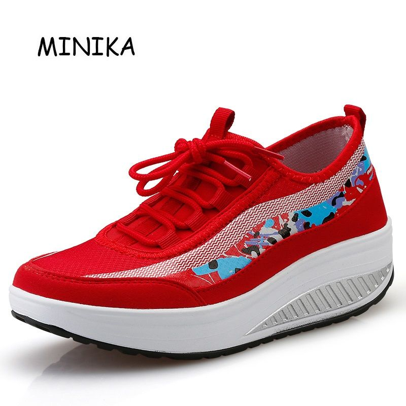 744d6c5f7ad2e Red Minika Schuhe Breathable Comfortable Toning Shoe Zapatos ...