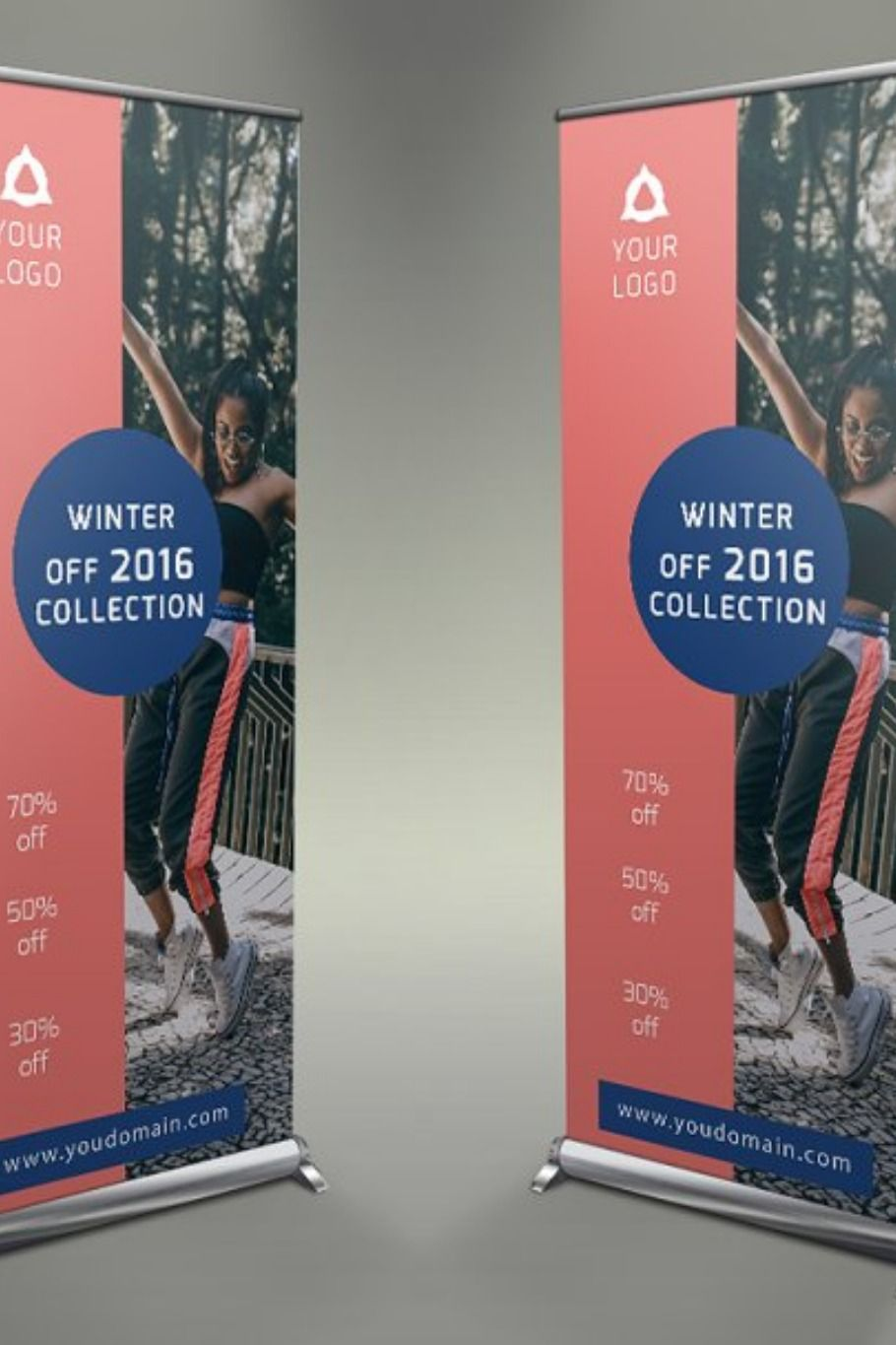 Fashion Style Roll Up Banner Creative Banners Roll Up Design Rollup Banner Design