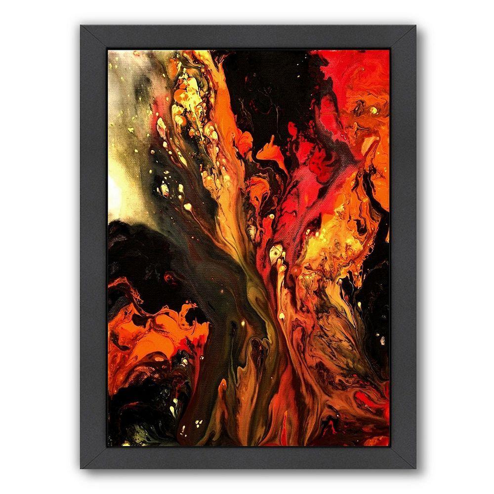 Americanflat burning desire abstract framed wall art black framed