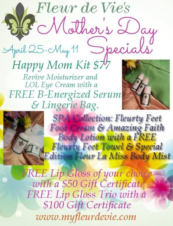 Mothers Day Specials! http://myfleurdevie.com/2/sugarfoot