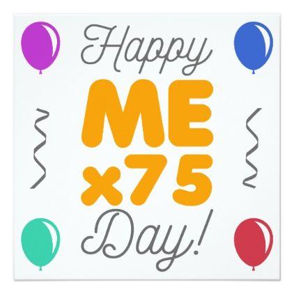 Happy 75th Birthday Card birthdayinvitation birthday party – 75th Birthday Party Invitations